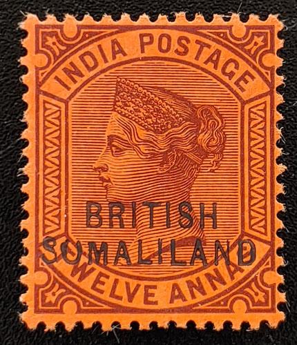 Somaliland Protectorate #15f Mint HR 1903 12a Sumaliland US$350