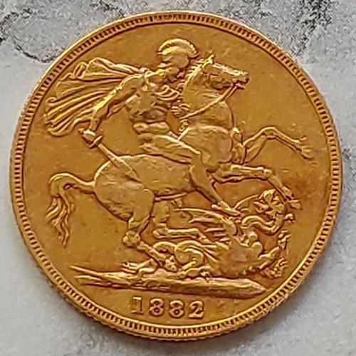 Australia XF 1882H Queen Victoria Gold Sovereign