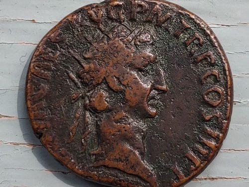 Nerva 96-98 AD 12gm AE Dupondius w/ Libertas etc