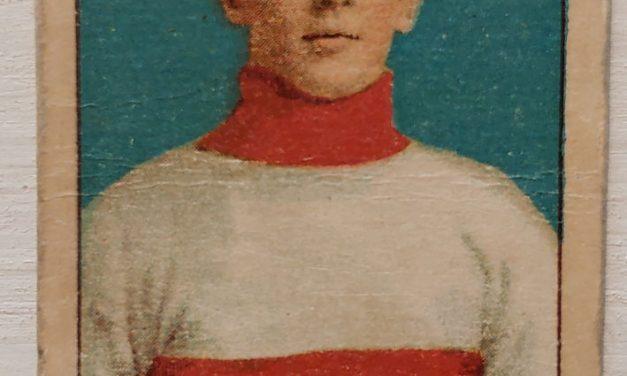 Frank Glass C-56 1910/11 #5 Rookie Hockey Card, rd corners