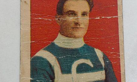 Jack Laviolette 1910/11 C-56 #21 Rookie Hockey Card faulty filler