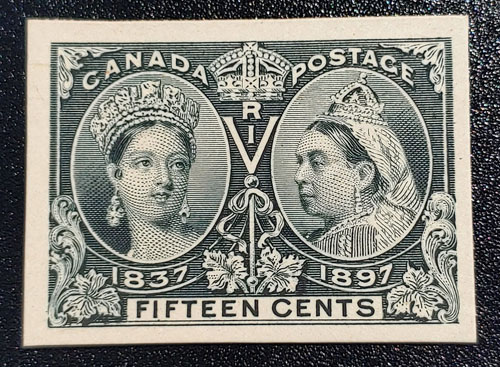 Canada #58P VF 1897 15c Plate Proof on card only 600 issued