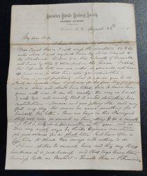 C.P.R. Survey Western Division Victoria 22 Au 1875 4 pg Smith Letter
