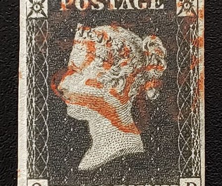 G.B. #1 Fine+ red M/C Used 1840 1d Black position Q-D