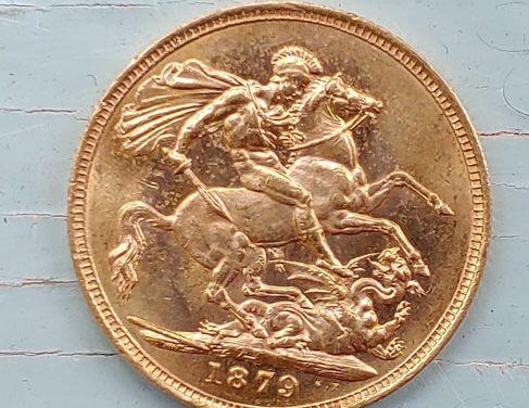 Australia XF 1879M Queen Victoria Gold Sovereign .2355 oz AGW