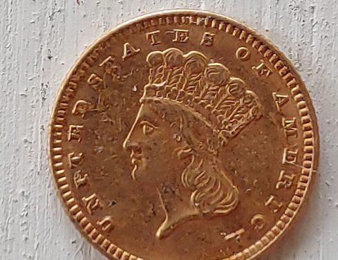 U.S.A. AU 1888 Indian Princess Gold $1 .04837oz AGW