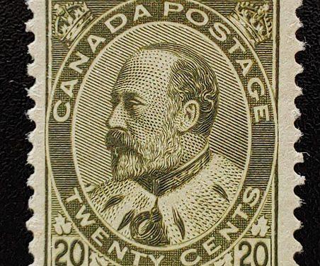 Canada #94 VF Unused 20c Edward VII