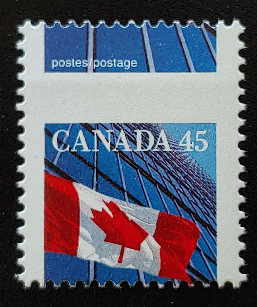 Canada #1361 Never Hinged 1995 45c Dramatic Misperf