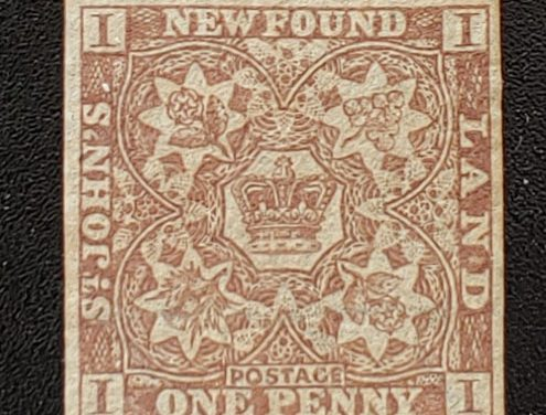 Newfoundland #15Aii VF Unused 1861/62 1d Watermarked