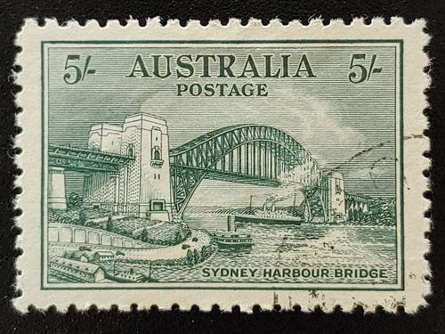 Australia #132 VF Used 1932 5/- Sydney Harbour Bridge US$275