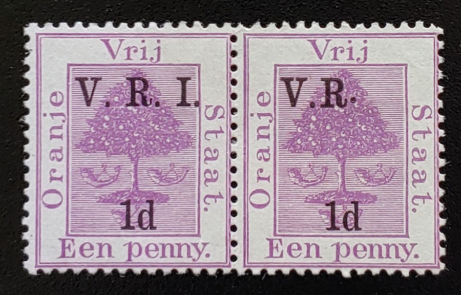 Orange River Colony #45d Mint 1900 Missing I Variety in pair US$303