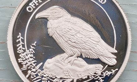 Yukon Proof ounce Pure Silver Raven Round #5/5000