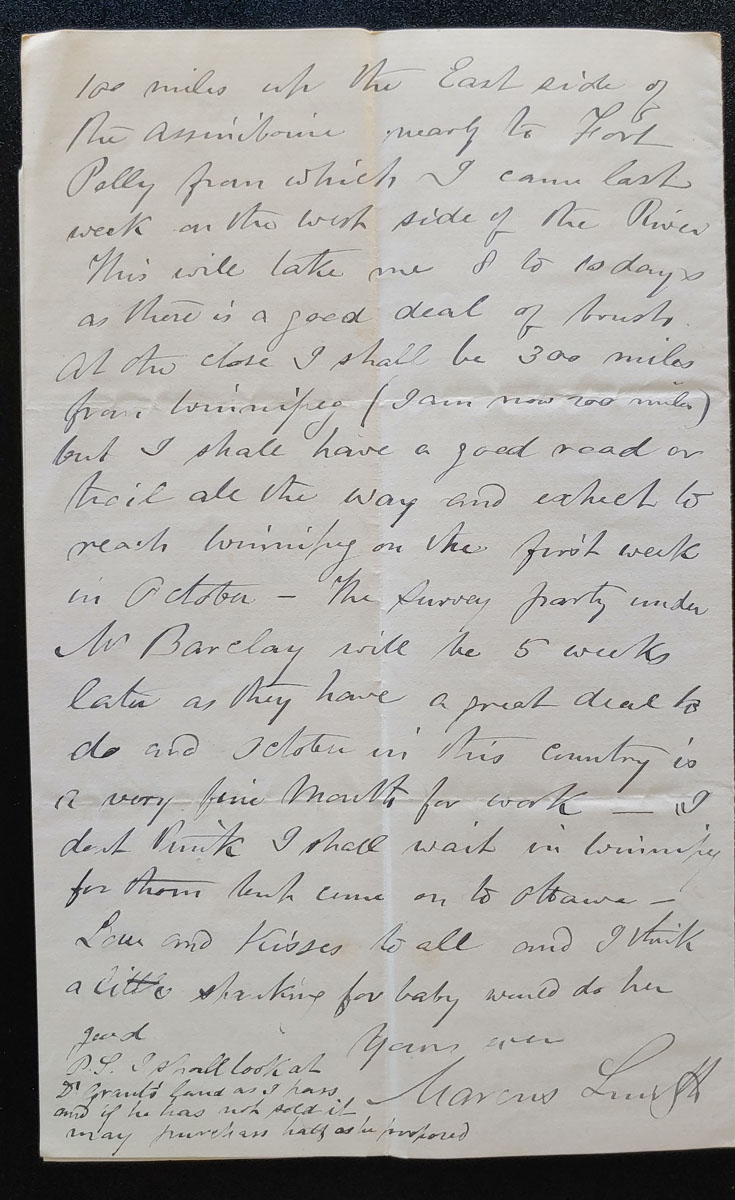 Elbows of the Little Sask. 9 Sp 1879 Marcus Smith letter to his wife