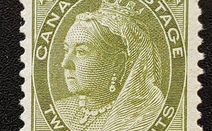 Canada #84 VF Mint 20c Olive Green, disturbed gum