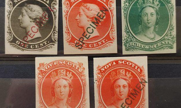 Nova Scotia #8Pii/13TCiii VF 1860/63 Plate Proofs (5 diff)
