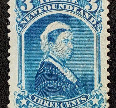 Newfoundland #34 Fine+ Unused 1873 3c Victoria, nibbed pf