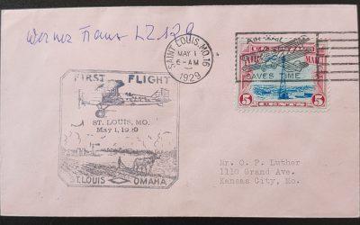 Hindenburg Crash survivor Werner Franz signed 1 May 1929 FFC