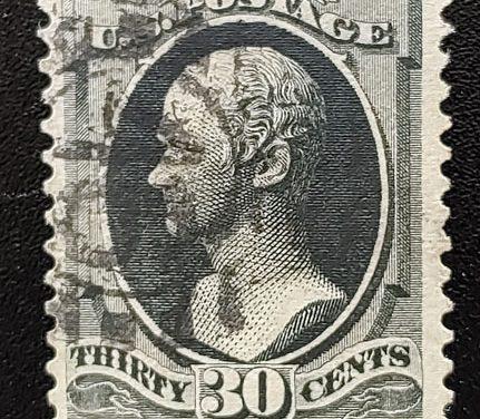 U.S.A. #154 F/VF Used 1870/1871 30c Black
