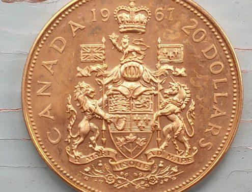 Canada BU 1967 Centennial Gold single year type