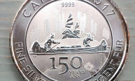 Canada 150 BU 2017 pure Ounce Silver Special Edition $5 Maple Leaf