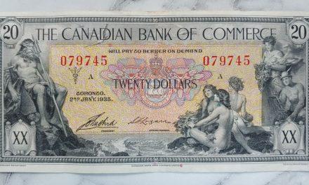 Cdn Bank of Commerce Fine+ 1935 $20 Banknote