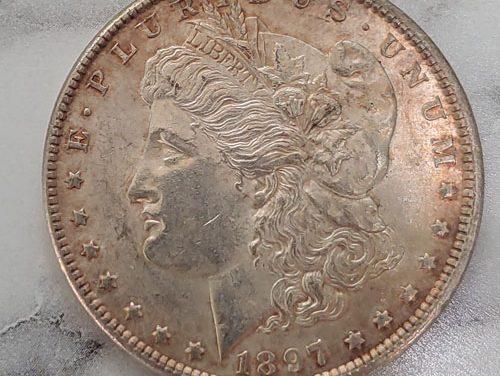 U.S.A. BU 1897 Morgan Silver Dollar