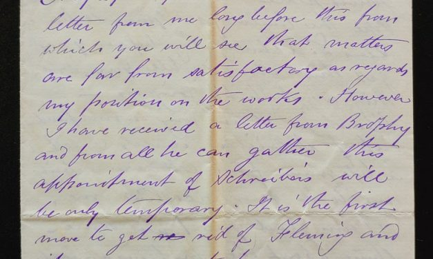 Winnipeg 6 June 1880 Marcus Smith 4 page letter to his wife
