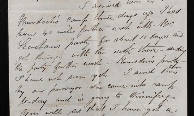Camp 110 Miles West of Winnipeg 4 July 1880 Smith letter to his wife