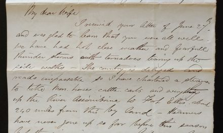C.P.R. Manitoba District 8 July 1879 Marcus Smith Letter to his wife