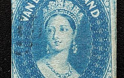 Tasmania #9 Fine Used 1857 4d unwatermarked