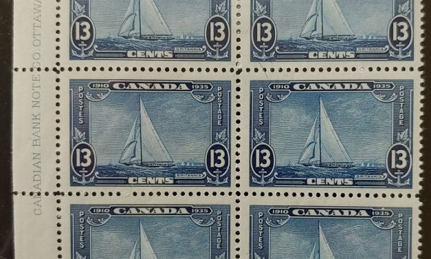 Canada #216 F/VF Mint four NH Plate 2 Inscription Block (6)