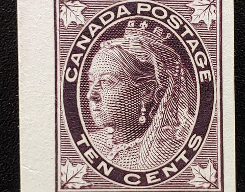 Canada #73P VF 1897 10c Plate Proof, only 235 issued