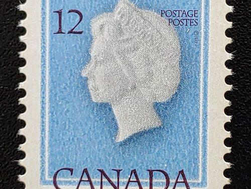 Canada #713 Never Hinged 1977 12c QEII Shifted Impression