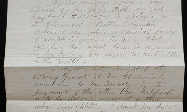 Quesnellemouth 6 Sep 1864 G.B. Wright Letter to Lang etc ex Wellburn