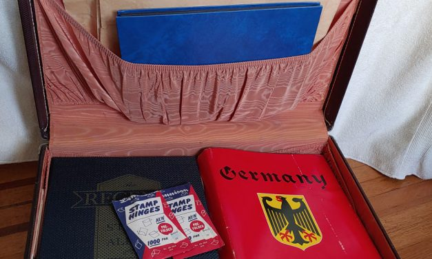 Estate Lot as received in Regent & Minkus Germany albums in suitcase