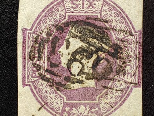 G.B. #7e Fine Used 1854 6d Inverted and Reversed Watermark