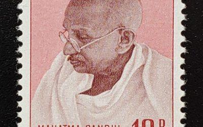 India #206 F/VF Never Hinged 1948 10R Gandhi