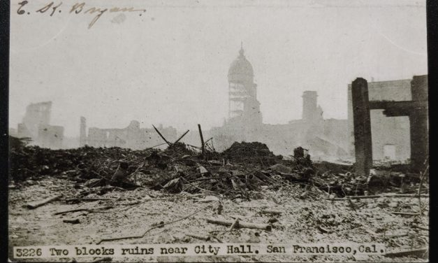 San Francisco Earthquake Unu 1906 Disaster Postcard