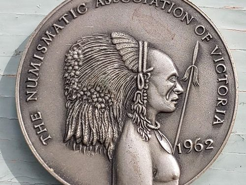 Numismatic Assn of Victoria Unc 1962 high relief Silver Medal #29/50