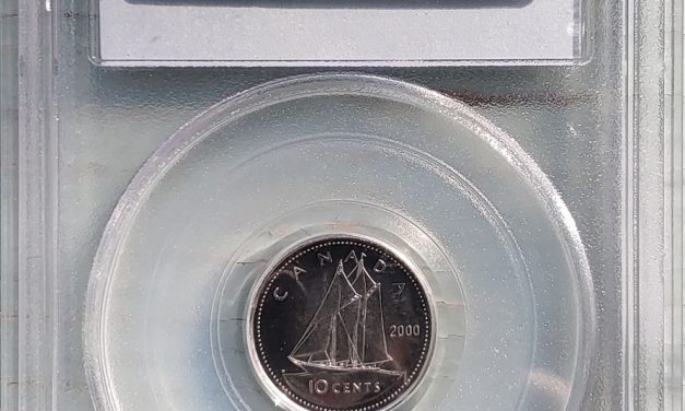 Canada PCGS MS67 2000-P 10 Cents, top 7 of 80 recorded