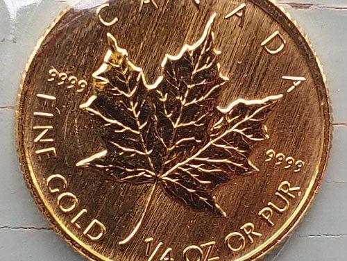Canada BU 1993 .9999 fine 1/4oz $10 Gold Maple Leaf