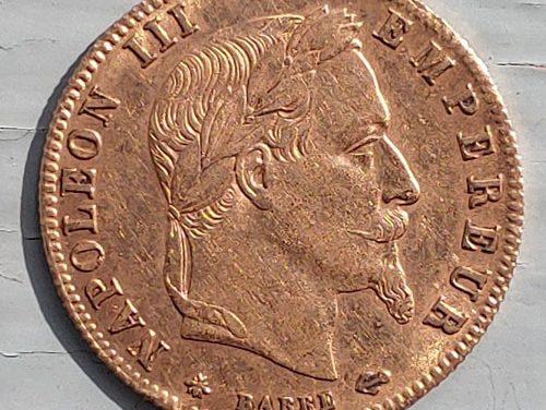 France XF 1864A Napoleon III Gold 5 Francs, mt mark .0467oz AGW