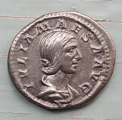 Julia Maesa 218-220 AD 4gm Silver Denarius w/ Juno etc