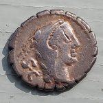 Roman Republic 80 BC L. Procillus 3.77gm Silver Denarius w/ Juno Sospita