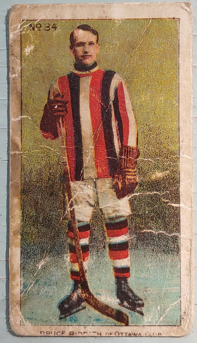 Bruce Ridpath C56 #34 1910/11 Rookie Hockey Card, faults
