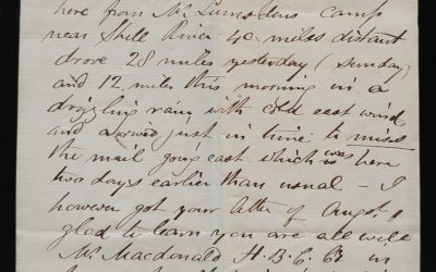 Fort Ellice, NWT 16 Aug 1880 1.5pg Marcus Smith letter to his wife