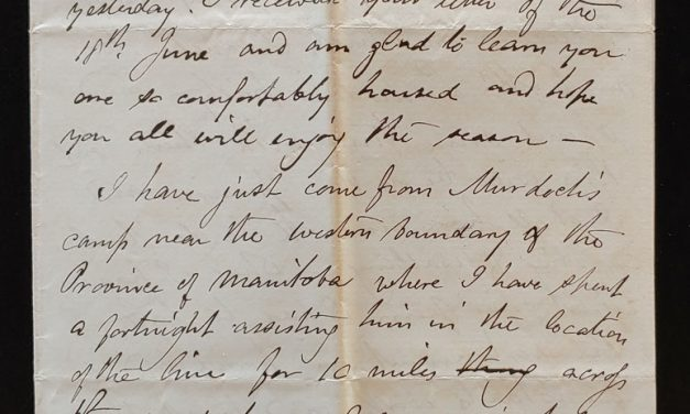 Odanah, N.W.T. 18 July 1880 Marcus Smith Letter to his wife