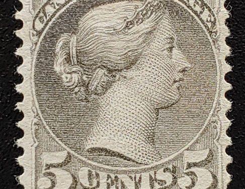 Canada #42 Fine+ Mint 1888/97 5c Grey