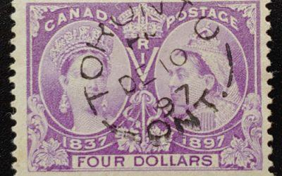 Canada #64 F/VF Toronto CDS Used 1897 $4 Jubilee