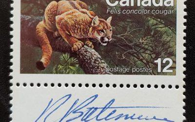 Canada #732 Never Hinged 1977 12c Signed Robert Bateman